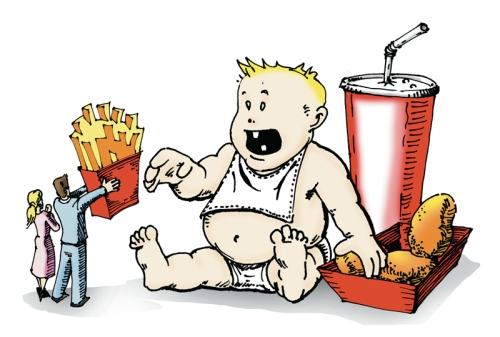 Childhood obesity cartoon