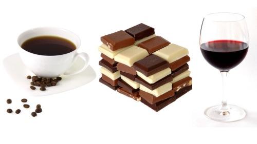 Coffee chocolate wine